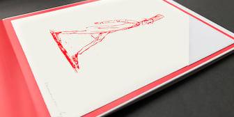 """Illustration """"Der lange Mensch"""""""