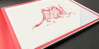 """Illustration """"Die beiden Hirten"""""""