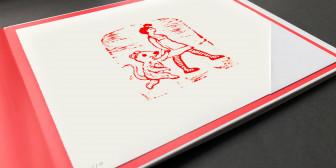 """Illustration """"Die Frau mit ihrer Maus"""""""